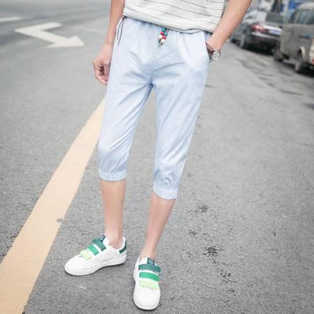 MSSEFN夏季7分裤男夏天休闲工装短裤男装七分中裤时尚男裤