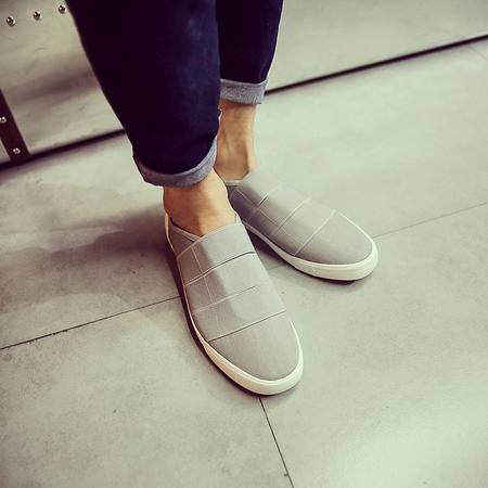 MSSEFN学生鞋开车鞋男鞋帆布鞋休闲鞋板鞋流行男鞋一脚套流行男鞋