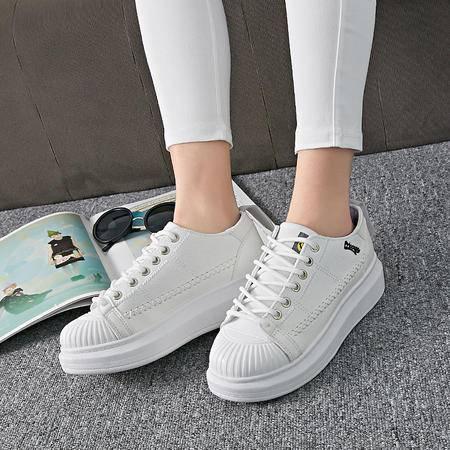MSSEFN 帆布鞋 厚底   松糕鞋 平底 女鞋