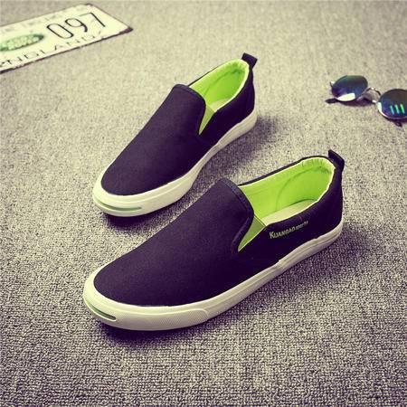 MSSEFN男士鞋子帆布鞋男韩版休闲鞋低帮男鞋板鞋懒人鞋