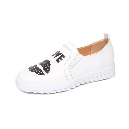 MSSEFN 爆款  印花 平底 小白鞋   跑量款