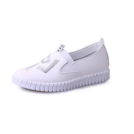 MSSEFN  亮片拼色 套脚 平低 女单鞋