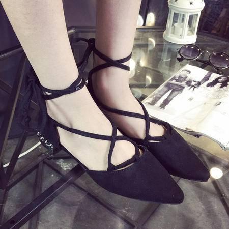 MSSEFN 绑带  镂空  女单鞋