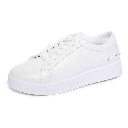 MSSEFN 小白鞋 板鞋 平底 平跟 女单鞋