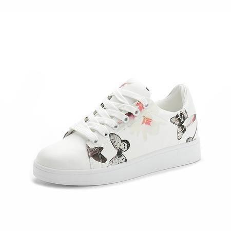 MSSEFN 新款 印花 低帮 平底 女版鞋