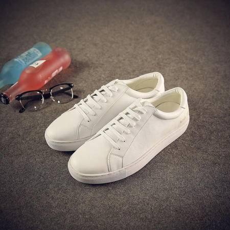 MSSEFN新款真皮男士小白鞋韩版舒适情侣百搭女鞋单低帮休闲板鞋 X80