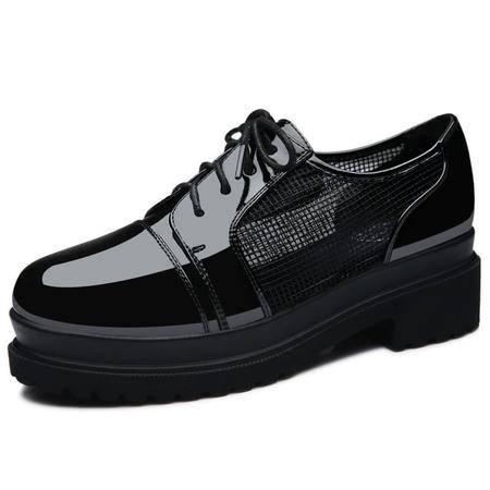 MSSEFN 专柜正品 漆皮网纱 女鞋