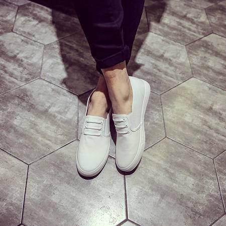 MSSEFN学生韩国东大门帆布鞋男鞋布鞋懒人鞋驾车鞋男一脚套休闲鞋