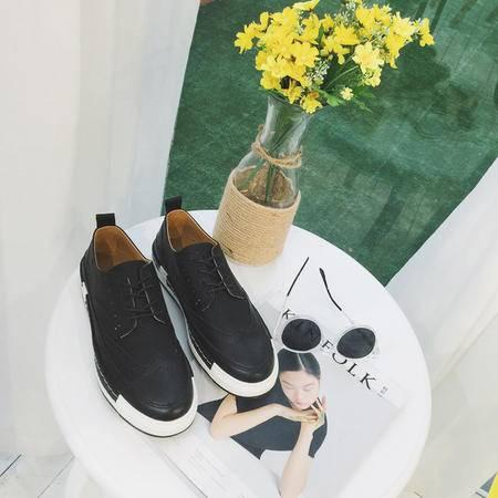 MSSEFN夏季男休闲布洛克雕花男鞋韩版英伦复古时尚潮流厚底板鞋C01