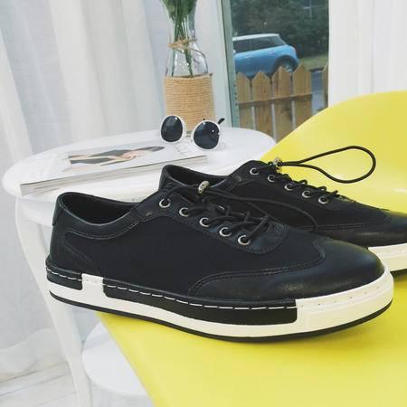 mssefn2016韩版新款男鞋套脚休闲百搭乐福鞋板鞋潮鞋厚底低帮鞋