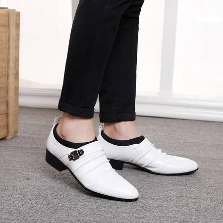 mssefn低帮鞋男白色鞋休闲皮鞋 软皮软底