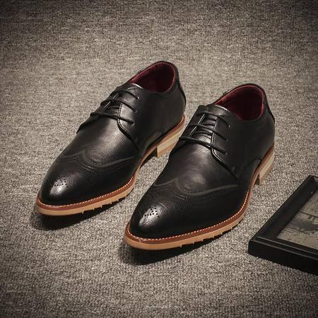 mssefn四季主推英伦复古雕花系带休闲皮鞋潮流男鞋