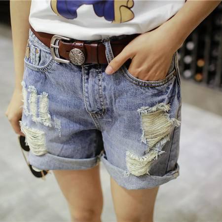 mssefn短裤女 韩版直筒 牛仔裤