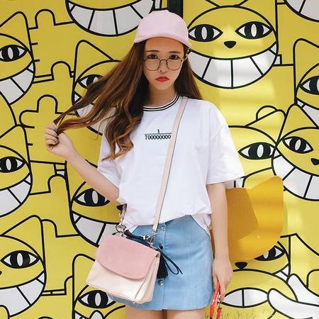mssefn2016夏季女装韩版bf原宿风宽松休闲短袖t恤女半袖上衣