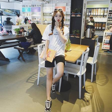 2016夏季新款女装bf原宿风韩版圆领t恤女宽松短袖t恤