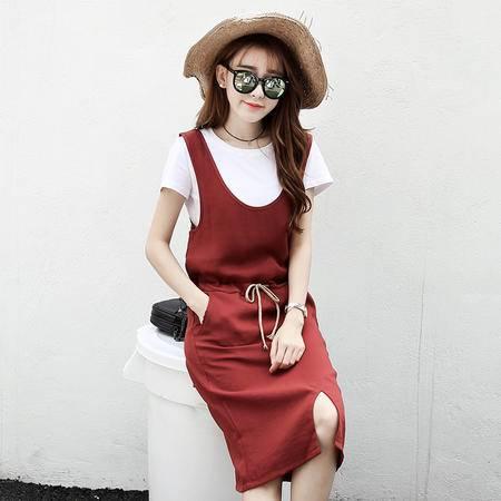 mssefn2016 夏季 夏季 时尚新品 系带套裙两件套