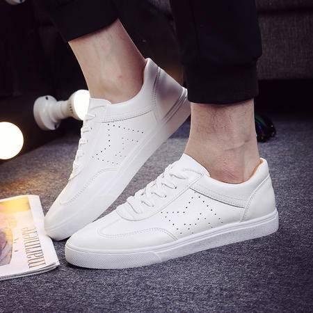 mssefn新款平底板鞋板鞋男低帮透气鞋韩版小白鞋休闲学生鞋