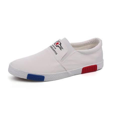 mssefn新款帆布鞋男欧洲站潮鞋一脚蹬鞋懒人鞋休闲鞋华仔同款