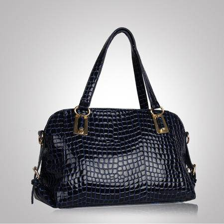 mssefn2016秋季潮鳄鱼纹单肩斜挎女包小包新款漆皮手提斜跨包