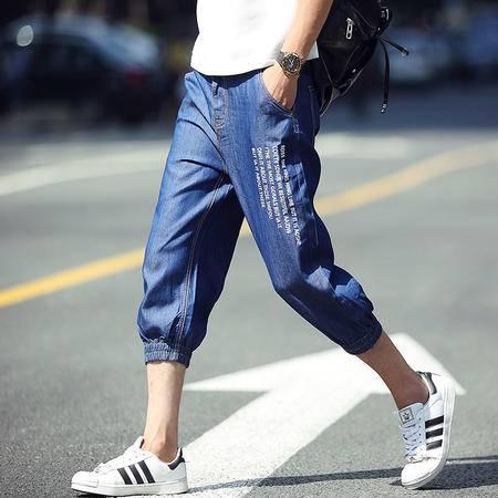 MSSEFN  2016夏季新款男士时尚七分牛仔裤型男薄款牛仔7分裤子