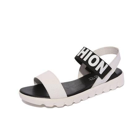 MSSEFN 2016 平底平跟 字母 女凉鞋