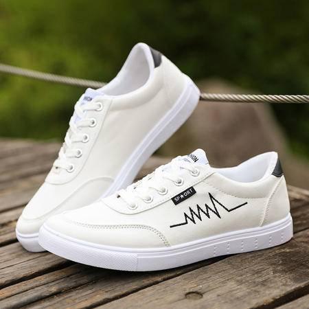 MSSEFN 新款学生板鞋 男生帆布鞋 潮流透气休闲男鞋小白鞋子