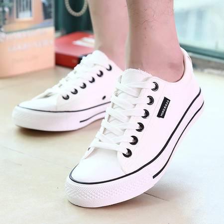 MSSEFN 低帮系带学生小白鞋男鞋经典学生鞋男式布鞋