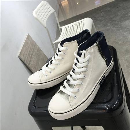 MSSEFN 2016韩版拼色百搭帆布学院风舞鞋设计潮流时尚板鞋学生鞋
