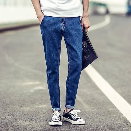 MSSEFN 大码牛仔长裤夏季薄款小脚男士纯色