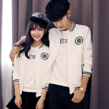 MSSEFN 秋季新款情侣卫衣韩版学院风棒球服外套