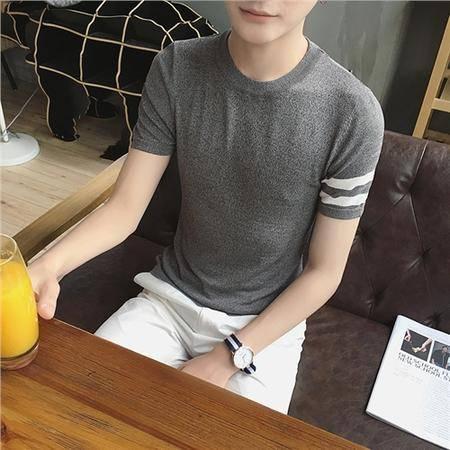 MSSEFN 港仔文艺男青年针织TEE冰丝圆领线衣短袖T恤