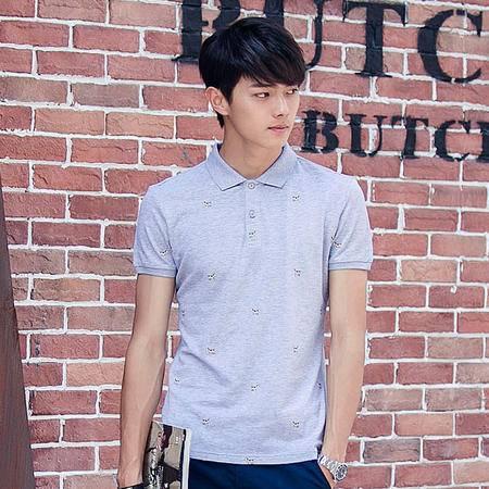 MSSEFN polo衫短袖男上衣2016新款 印花韩版修身男t恤夏季翻领男
