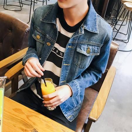 MSSEFN 2015秋季 新款 韩版时尚大码水洗牛仔夹克