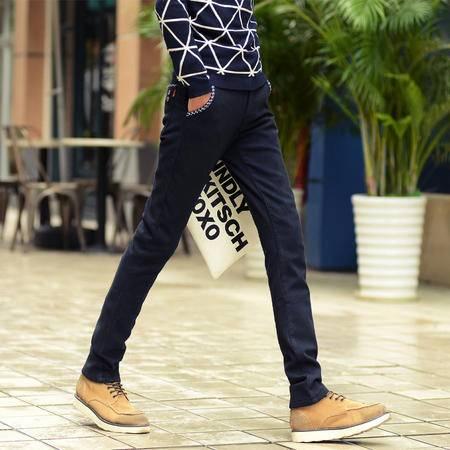 MSSEFN 新款男士直筒裤修身休闲男装休闲裤