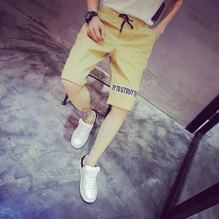 MSSEFN  2016夏季好质量100五分裤男士运动短裤男白色