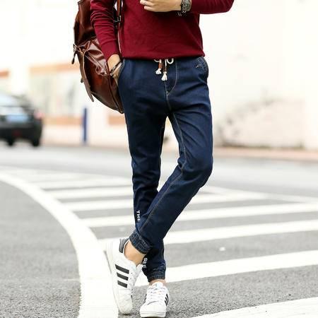 MSSEFN  男士夏季新款直筒裤休闲修身裤子青年潮流牛仔裤