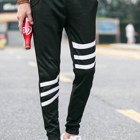 MSSEFN 2016夏秋新款条纹男式韩版修身运动休闲束脚卫裤长裤