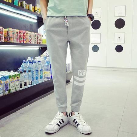 MSSEFN 2016秋款经典印花休闲裤男卫裤针织小脚裤束脚裤