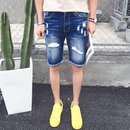 MSSEFN   2016夏季新款时尚牛仔短裤男士五分裤