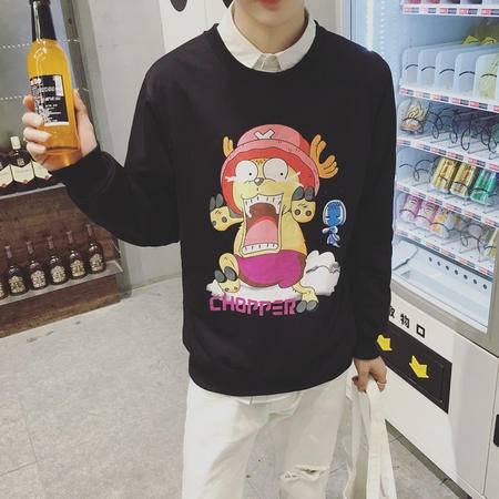 MSSEFN 男2016秋季韩版潮款卫衣 青少年舒适圆领套头卫衣