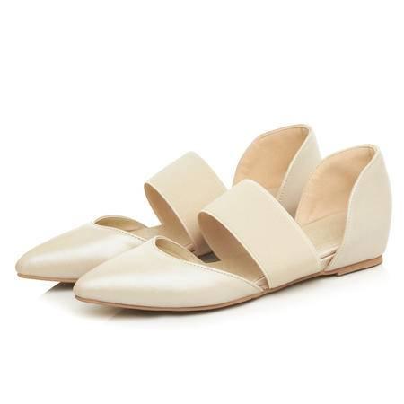 MSSEFN 2016新款一字带凉鞋女夏牛皮包头复古中空软皮鞋平底