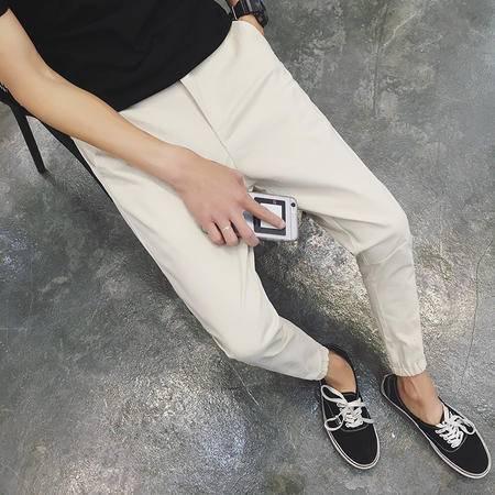MSSEFN  男士新品裤脚拉链设计松紧修身束脚九分休闲裤
