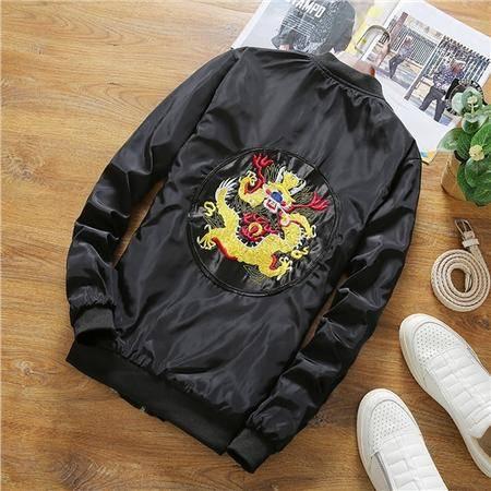MSSEFN 秋季中国风刺绣夹克男大码薄款青年外套潮