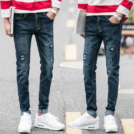 mssefn弹力修身男士牛仔裤男直筒男裤休闲长裤子薄款小脚潮男装