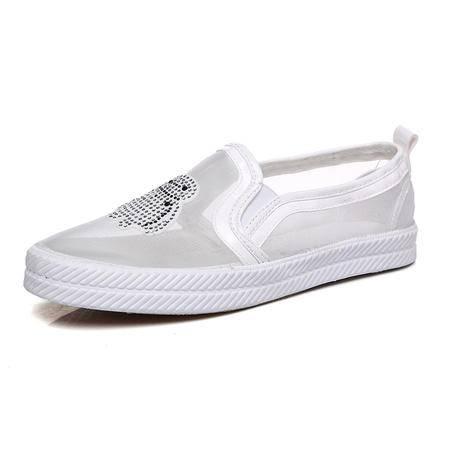 mssefn水钻 网纱 透气 平底 女单鞋 凉鞋