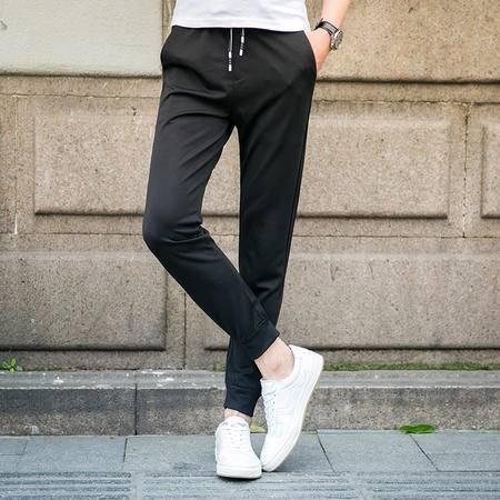 MSSEFN2016新款青年修身纯色大码休闲男长裤