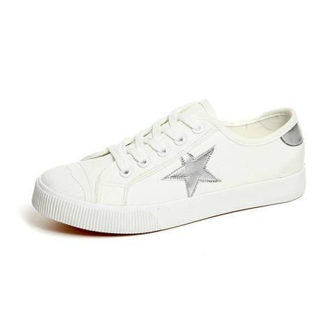 mssefn四季款 小白鞋 帆布鞋 平底平跟低帮鞋 女生单鞋