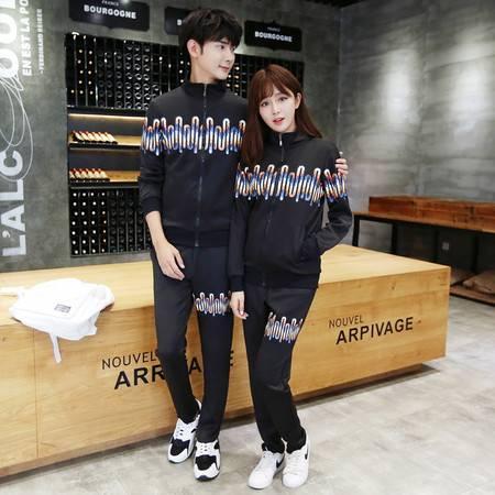 mssefn2016秋季青年情侣休闲韩版运动修身套装潮