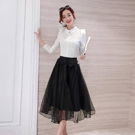 MSSEFN2016秋季女装新款长袖上衣 半身裙两件套气质时尚套裙