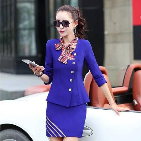 mssefn2016秋季女装新款西装外套 半身裙两件套气质OL职业套裙